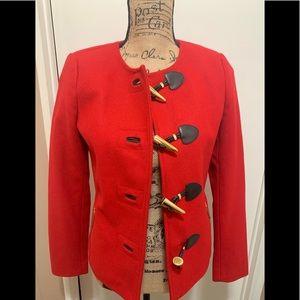 MICHAEL Michael Kors Blazer Jacket Red Wool Sz 2